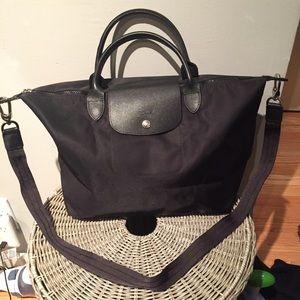 Longchamp Le Pliage Neo Medium w Strap (Black)